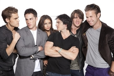 The Vampire Diaries TV Show wallpaper with a business suit and a well dressed person called TVD Cast Shoot