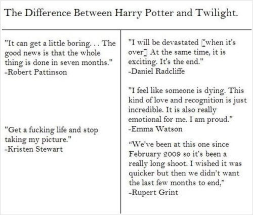 The Difference Between Harry Potter and Twilight