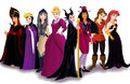 The Disney Princesses Dressed like Disney Villains