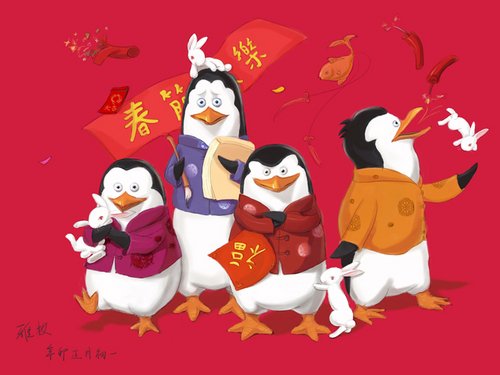 The Penguins in Spring Festival