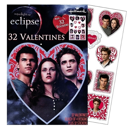 Twilight Eclipse Valentines jour Cards with Stickers 32ct