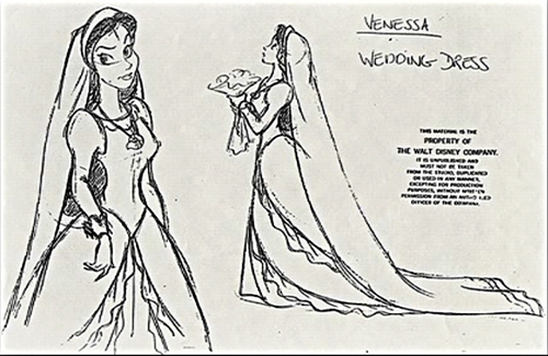"Vanessa from ""The Little Mermaid"" wallpaper possibly containing anime called Vanessa - Character desain (Wedding Dress)"
