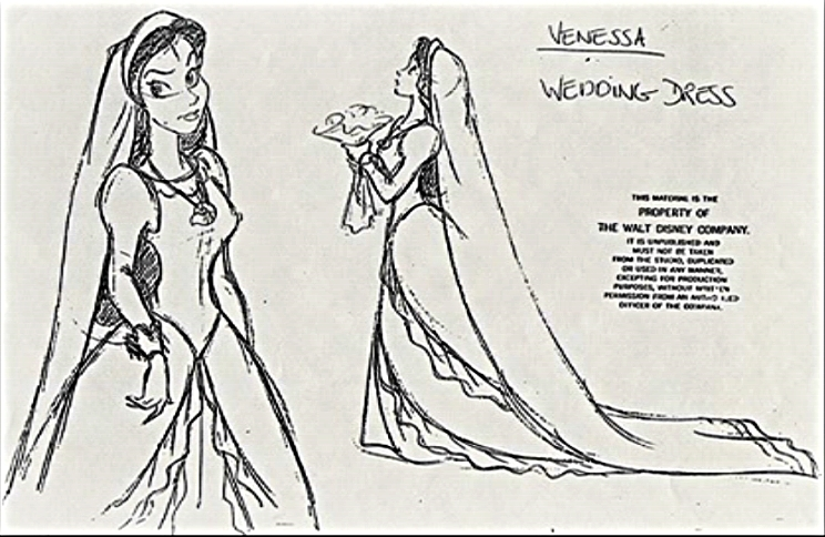Vanessa - Character デザイン (Wedding Dress)