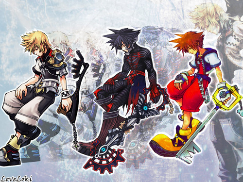 Kingdom Hearts kertas dinding probably containing Anime entitled Ventus Vanitas Sora Roxas