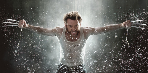 Hugh Jackman as Wolverine wallpaper with a fonte called Wolverine