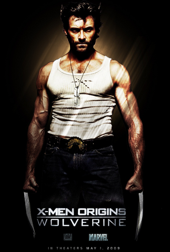 Hugh Jackman as Wolverine wallpaper probably containing a sign, a top, and a playsuit, macacão called Wolverine