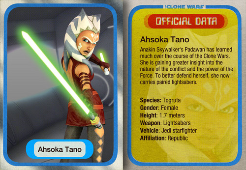 ster Wars: Clone Wars achtergrond possibly with anime called Young Ahsoka Card