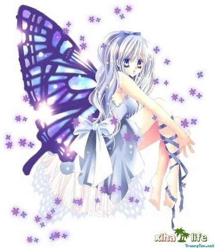 anime cute kupu-kupu girl