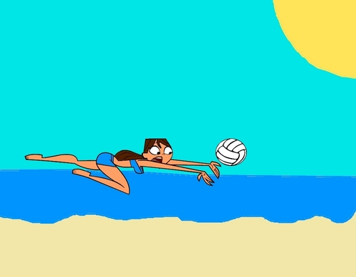 brianna playing volleyball