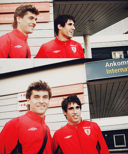Fernando Llorente wallpaper containing a leisure wear, a workwear, and an outerwear titled fer & javi athletic
