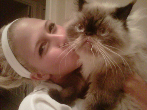 kelly and her cat