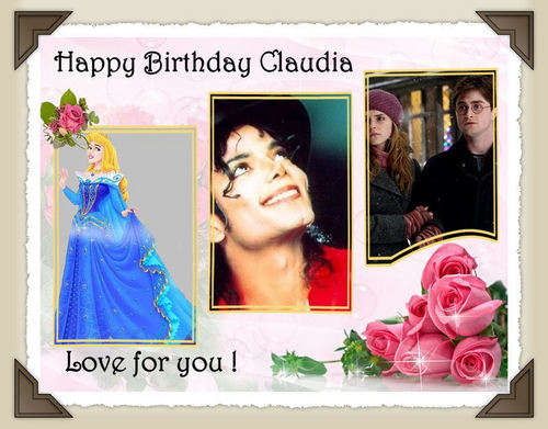 (¯`*•.¸ ಌಌ Happy Birthday Claudia ಌಌ¸.•*´¯)