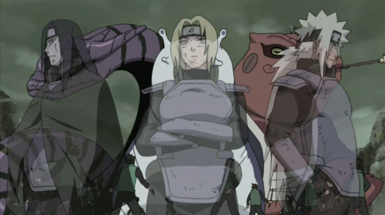 Jiraiya Tsunade Orochimaru Legendary Three Ninja Photo