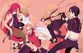 Kushina, Minato, Sakura, Naruto and Sai
