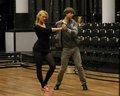 Alex rehearsing cha cha :)