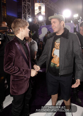 At the LA Premiere of Never Say Never