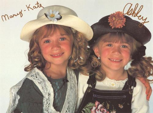 Mary-Kate & Ashley Olsen wallpaper containing a boater, a fedora, and a snap brim hat titled Autographed