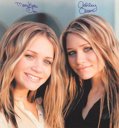 Mary-Kate & Ashley Olsen wallpaper with a portrait called Autographed