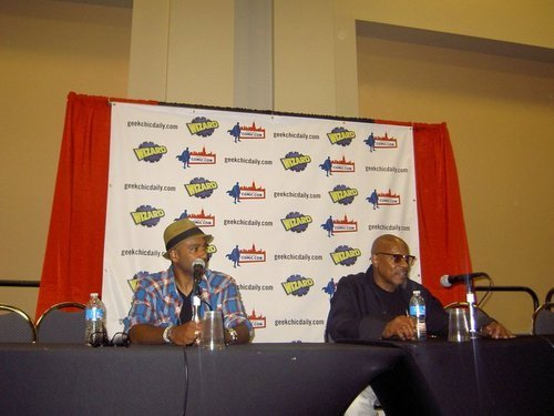 Avery Brooks and Ciroc Lifton at Wizard World in Philly 2010