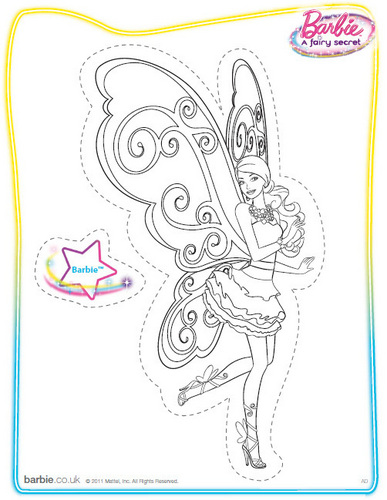 Barbie Movies wallpaper entitled Barbie: A Fairy Secret (coloring/printable)