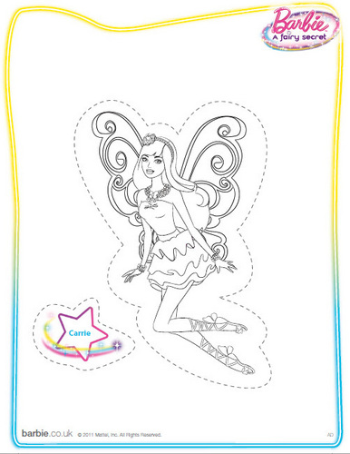 Barbie films achtergrond entitled Barbie: A Fairy Secret (coloring/printable)
