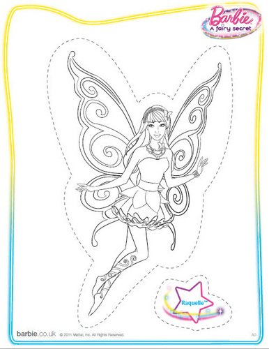 Sinema za Barbie karatasi la kupamba ukuta called Barbie: A Fairy Secret (coloring/printable)
