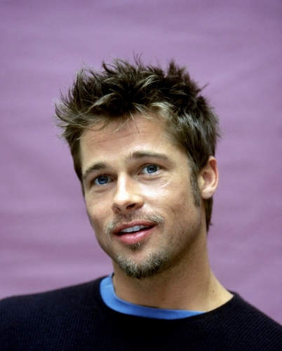 布拉德·皮特 壁纸 probably containing a jersey and a portrait titled Brad Pitt photoshoot (HQ)