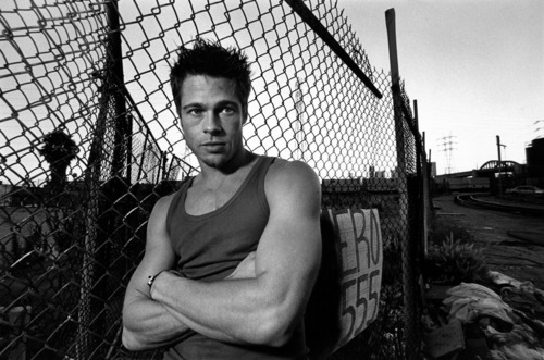 Brad Pitt wallpaper containing a chainlink fence entitled Brad Pitt photoshoot (HQ)