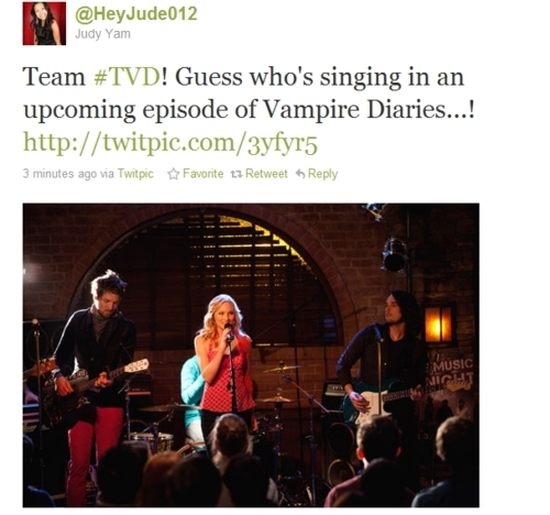 Candice will sing in an upcoming episode of TVD! - the-vampire-diaries-tv-show photo