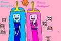 Candy Princesses!!! Princess Bubblegum and Princess Gummybear! (me)