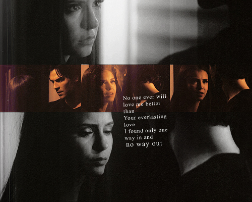 The Vampire Diaries wolpeyper called Damon & Elena <3