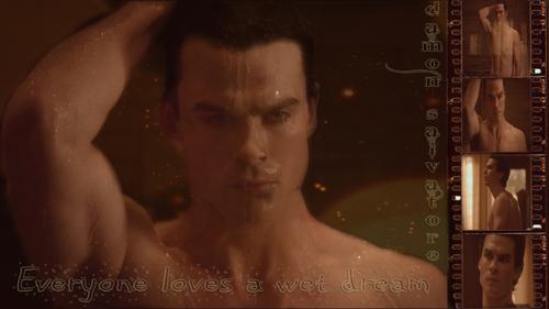 Damon Salvatore-Wet Dream