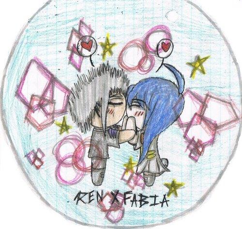 Fabia x Ren Drawing (kissing)
