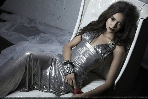 Nina Dobrev wallpaper possibly with a living room, a cocktail dress, and a chemise called Greg Lotus Photoshoot (HQ/Detagged).