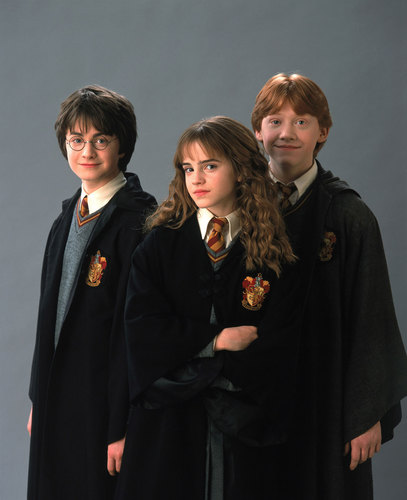 Harry Potter kertas dinding titled Harry, Ron and Hermione