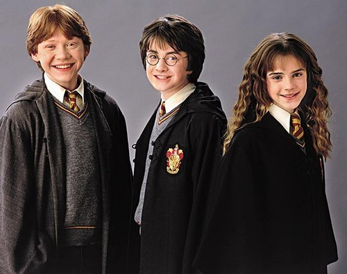Harry Potter karatasi la kupamba ukuta titled Harry, Ron and Hermione
