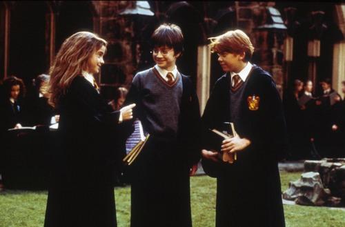 Harry, Ron y Hermione