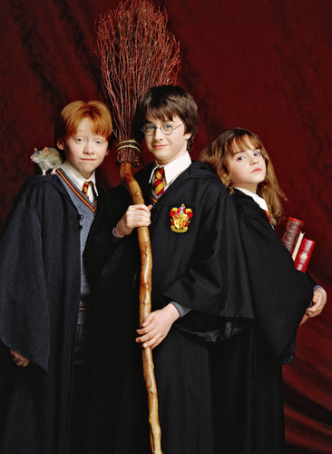 harry potter wallpaper called Harry, Ron y Hermione