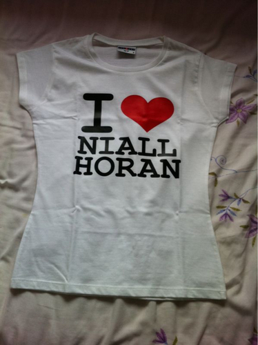 Irish Cutie Niall (I Amore Niall Horan T-Shirt) 100% Real :) x