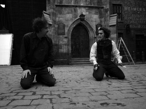 Johnny and Tim Burton