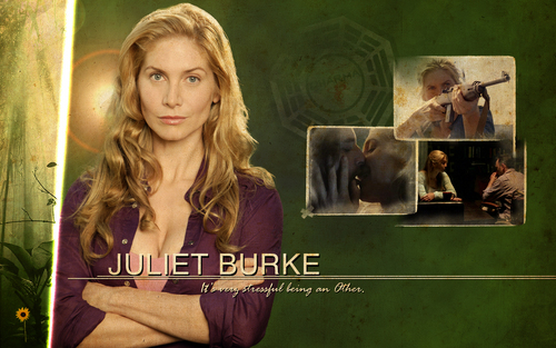 Dr. Juliet Burke wallpaper possibly with a sign and a portrait titled Juliet Burke