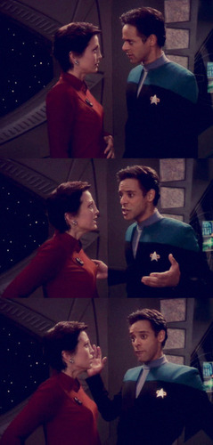 Kira Nerys and Julian Bashir