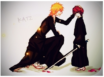 Little Aizen and Ichigo