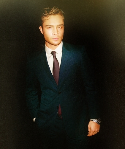 Ed Westwick wallpaper with a business suit, a suit, and a two piece called London Evening Standard British Film Awards 2011