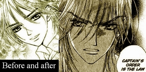 Manga wallpaper probably with anime called Luce/Scars/Skulls- WANTED by Matsuri Hino (AKA the chic who wrote Vampire Knight -.-')