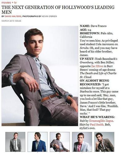 Dave Franco wallpaper probably containing a newspaper and anime called Magazine Scans
