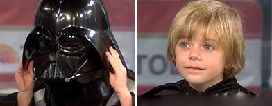 Max-Mini Darth Vader= looks Like Mark Hamill!