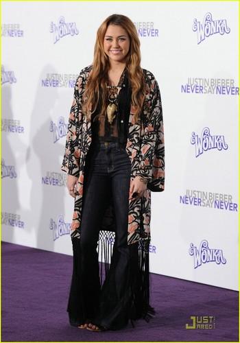Miley @ Never Say Never LA Premiere