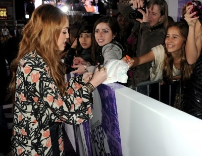 Miley @ Never Say Never LA Premiere