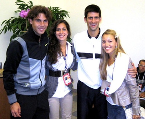 novak djokovic wallpaper entitled Nadal ,Djokovic ,Xisca and Jelena is the smallest ?